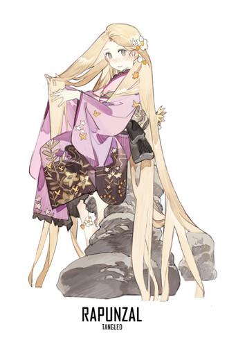 pagkabata animado pelikula pangunahing tauhan babae wolpeyper titled Rapunzel