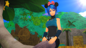Relaxing in Destiny Islands KH Aqua MMD .