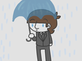 Ringo in the rain - the-beatles fan art
