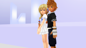 Roxas and Namine KHCoM and KHCoded Your My Shadow.