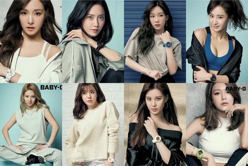 Girls Generation/SNSD wallpaper titled SNSD CASIO BABY-G 2017SS Photoshoot