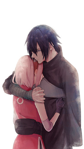 Naruto Shippuuden fond d'écran called Sasuke and Sakura hug