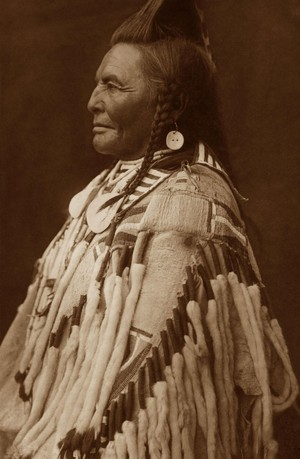 Shot in the Hand (Apsaroke 1868-1952) by Edward S. Curtis