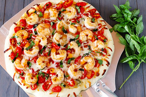 shrimp, kamba Fra Diavolo pizza