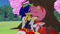 Sonic and Amy SRZG Sleeping in Sakura Tree MMD. - sonic-and-amy wallpaper