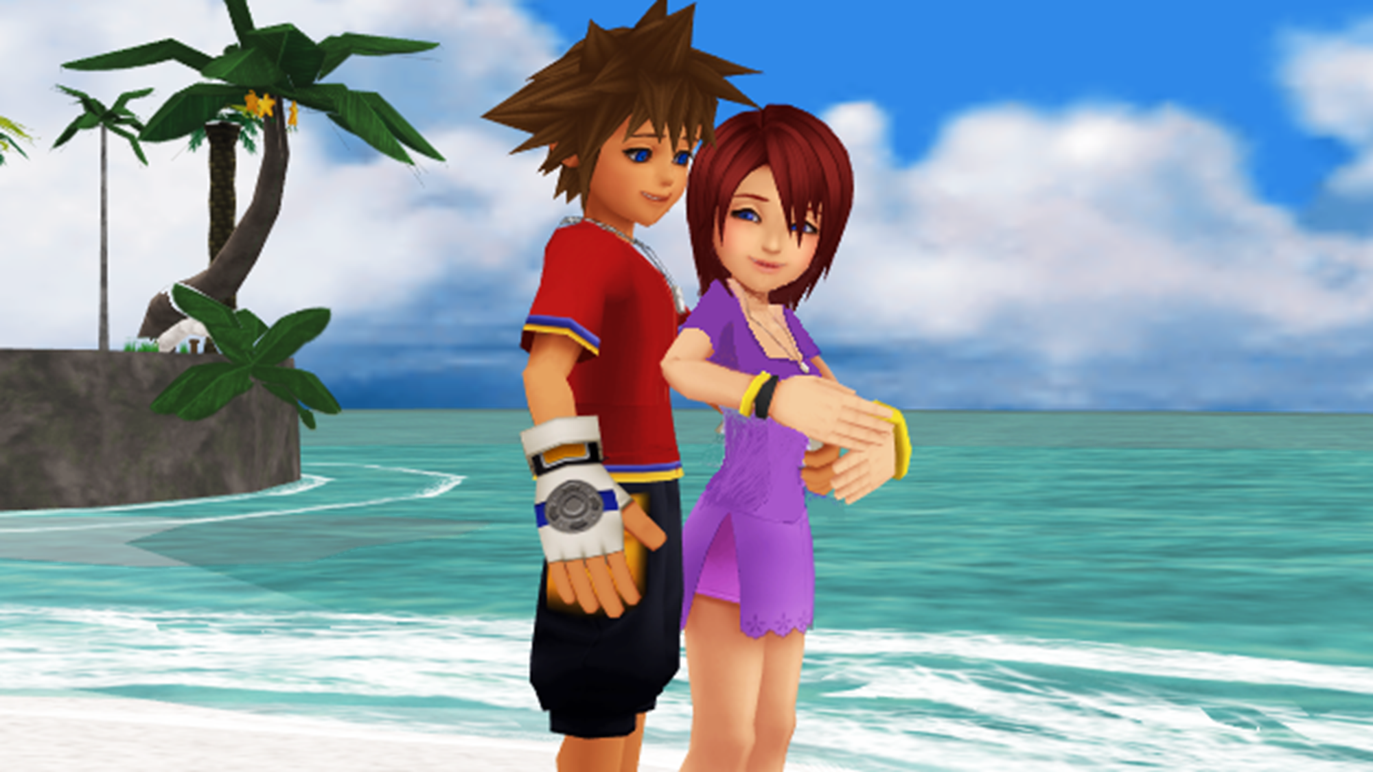 Sora and Kairi KH1 and KHReCom Light..