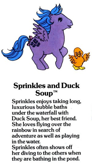 Sprinkles and canard soupe Fact File