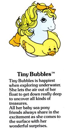 Tiny Bubbles Fact File