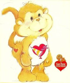 Care Bears wallpaper entitled Playful Heart Monkey