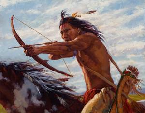 Taking Aim (Crow Warrior) door James Ayers