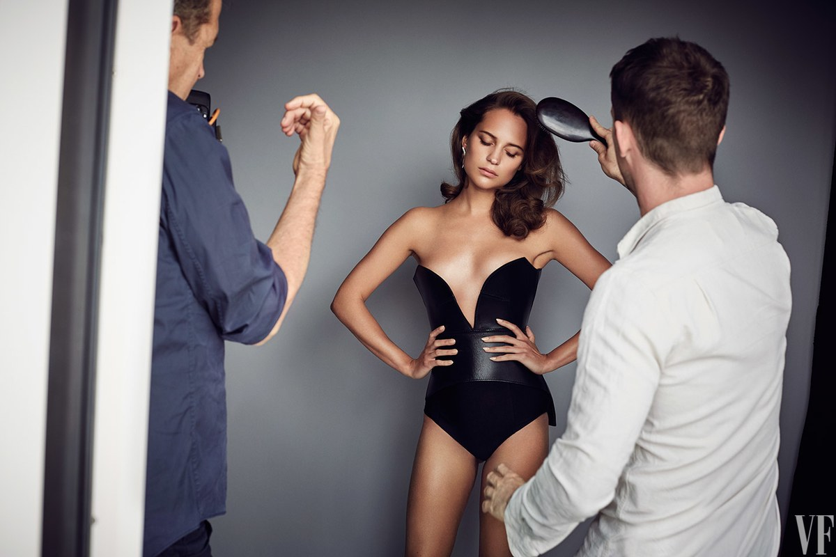 The Cover Shoot: Alicia Vikander in Wonderland