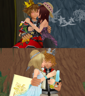 The Last Sora x Kairi and Roxas x Namine Sweet किस