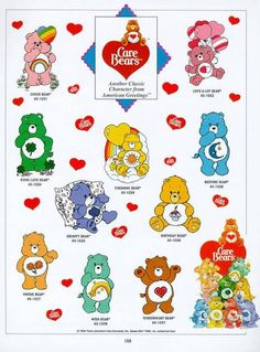 Care Bears 바탕화면 titled The Original 10 Care Bears
