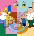 The Simpsons vs. Family Guy - the-simpsons-vs-family-guy fan art