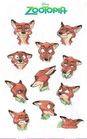 The many faces of Nick Wilde