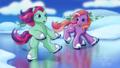 Twinkle Twirl and Loop - De - La go ice skating - my-little-pony fan art