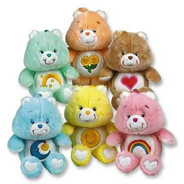 Care Bears wallpaper entitled Vintage Care Bears Plushies