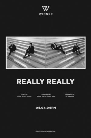 WINNER release a chic black and white teaser image for 'Really Really'