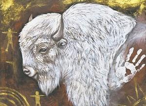 White Buffalo anak lembu ~Art of Jackie Traverse