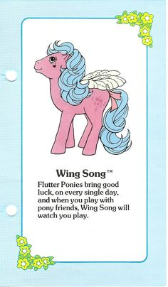Wing Song Fact File