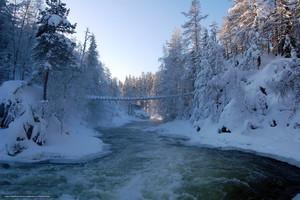 Winter in Finland - Talvi Suomessa (Kitkajoki River, Oulanka Park)