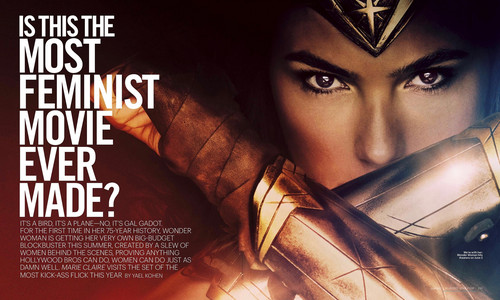 Wonder Woman (2017) karatasi la kupamba ukuta entitled Wonder Woman - Is This The Most Feminist Movie Ever Made? - Marie Claire - April 2017 [1/2]