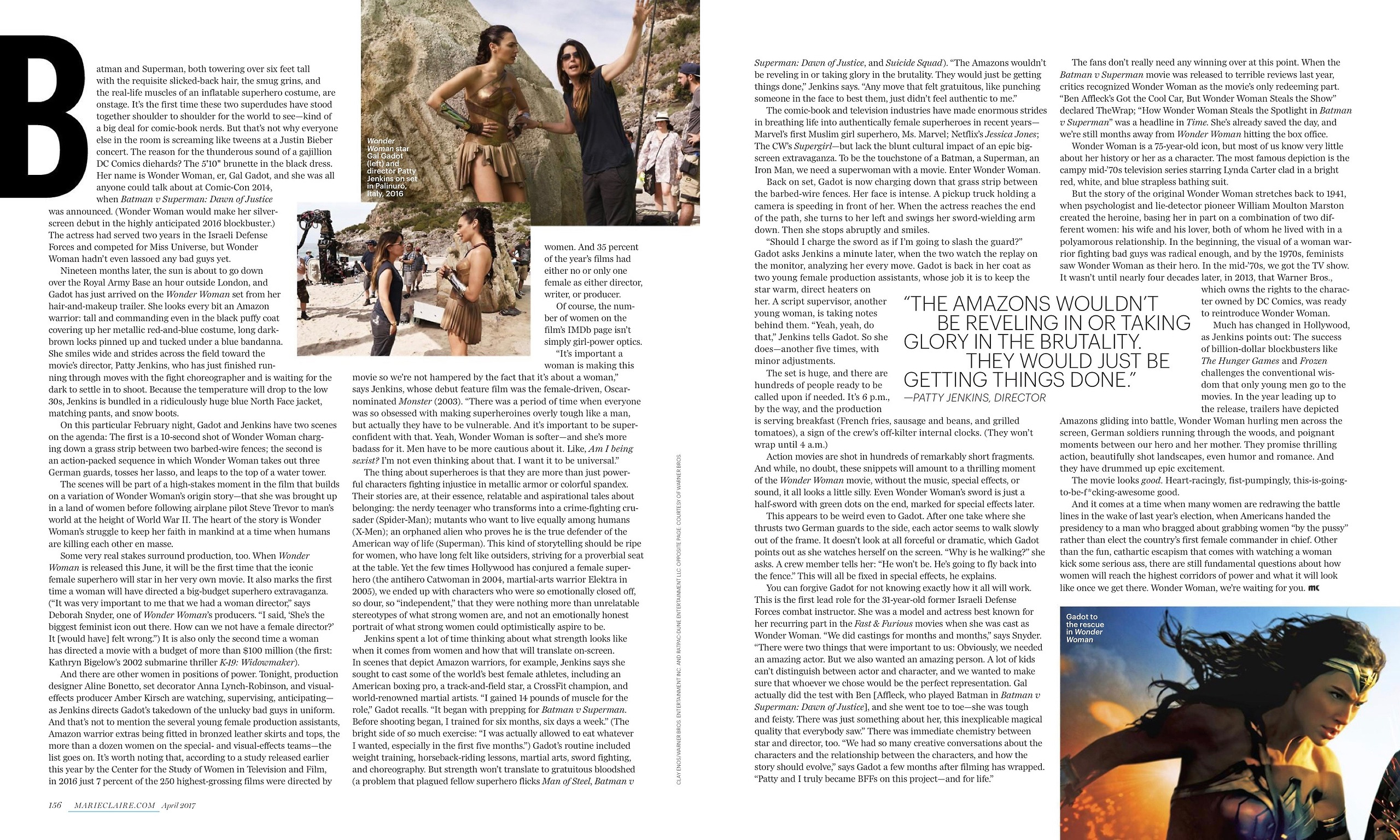 Wonder Woman - Is This The Most Feminist Movie Ever Made? - Marie Claire - April 2017 [2/2]