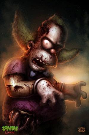 Zombie Simpsons Krusty