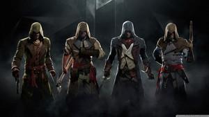 assassins creed unity 2015 kertas dinding 1366x768