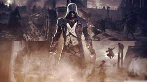 assassins creed unity 5 kertas dinding 1366x768