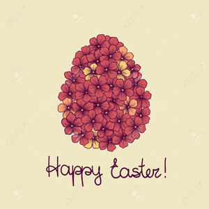 beautiful Easter greeting card