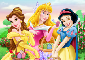 Disney princesses happy easter