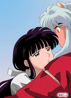 इनुयाशा and kikyo hug