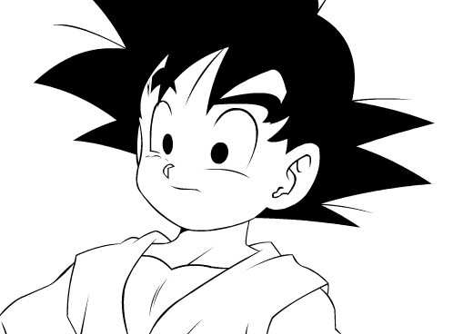 Dragon Ball Z Wallpaper Titled Kid Goku Lineart By Bugha1 D37onfh