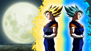 vegito powering up side view colored 3 por aashan daswrue