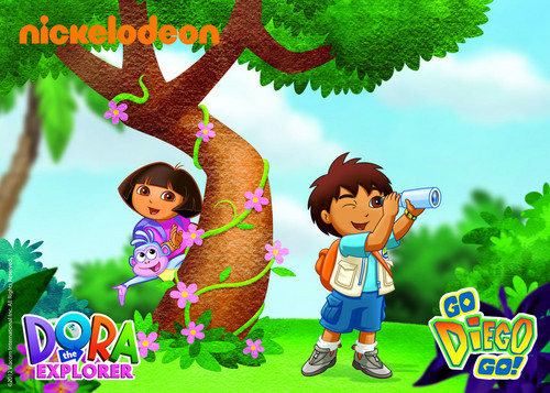 Dora the explorer images zoohoo dora and diego hd wallpaper and dora the explorer wallpaper titled zoohoo dora and diego voltagebd Image collections