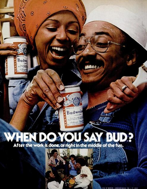 """'70's"" Promo Ad For Budweiser 啤酒"