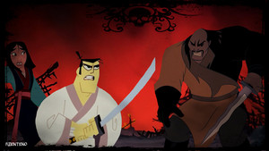 """You Will Not Hurt Her Villain"" (Samurai Jack Fight Shan Yu)"