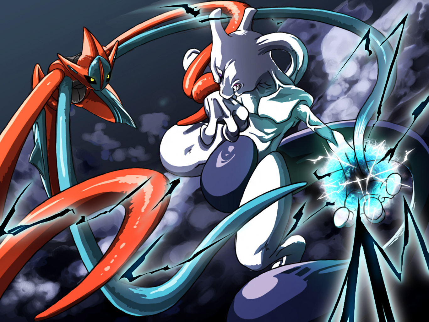 Deoxys vs Mewtwo