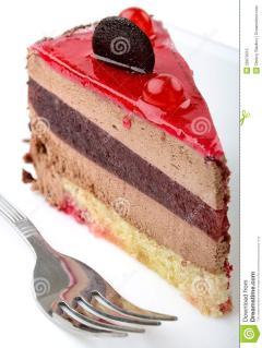 A Slice Of A Bounty Cake