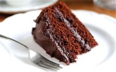 Have A Slice Of A Chocolate Cake!