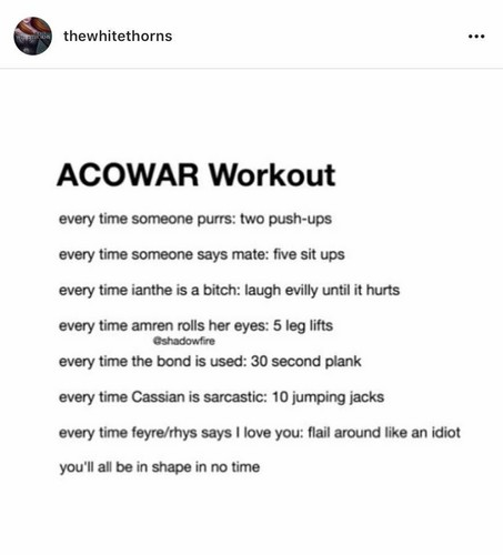 A court of thorns and roses series wallpaper called ACOWAR Workout