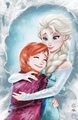 Anna and Elsa - frozen fan art