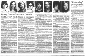 Article Pertaining To 1979 Who Concert Tragedy