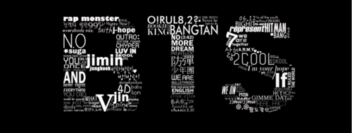 BTS پیپر وال entitled BTS logo fanart