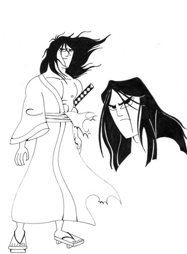 Samurai Jack kertas dinding called Battle Worn Samuari Jack