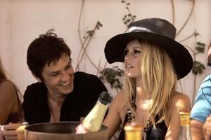 Brigitte and Alain Delon