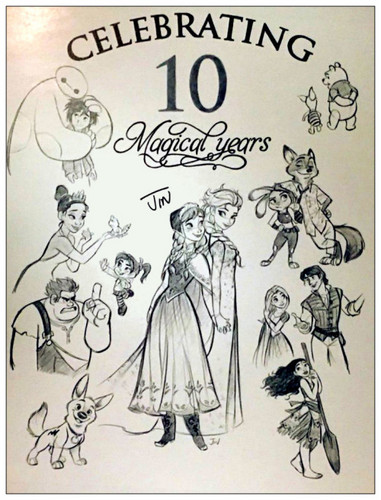 The disney Revival Era fondo de pantalla titled Celebrating 10 Magical Years