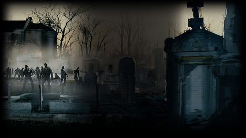Left 4 Dead 2 fond d'écran called Cemetery
