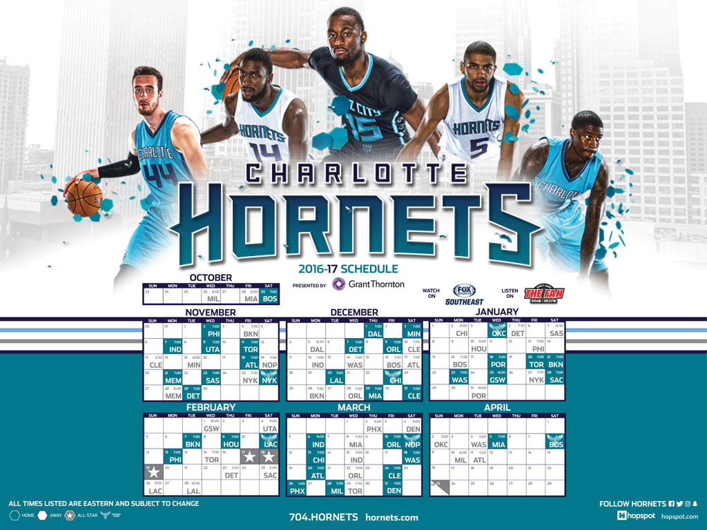 Charlotte Hornets Images 2016 2017 Schedule HD Wallpaper And Background Photos